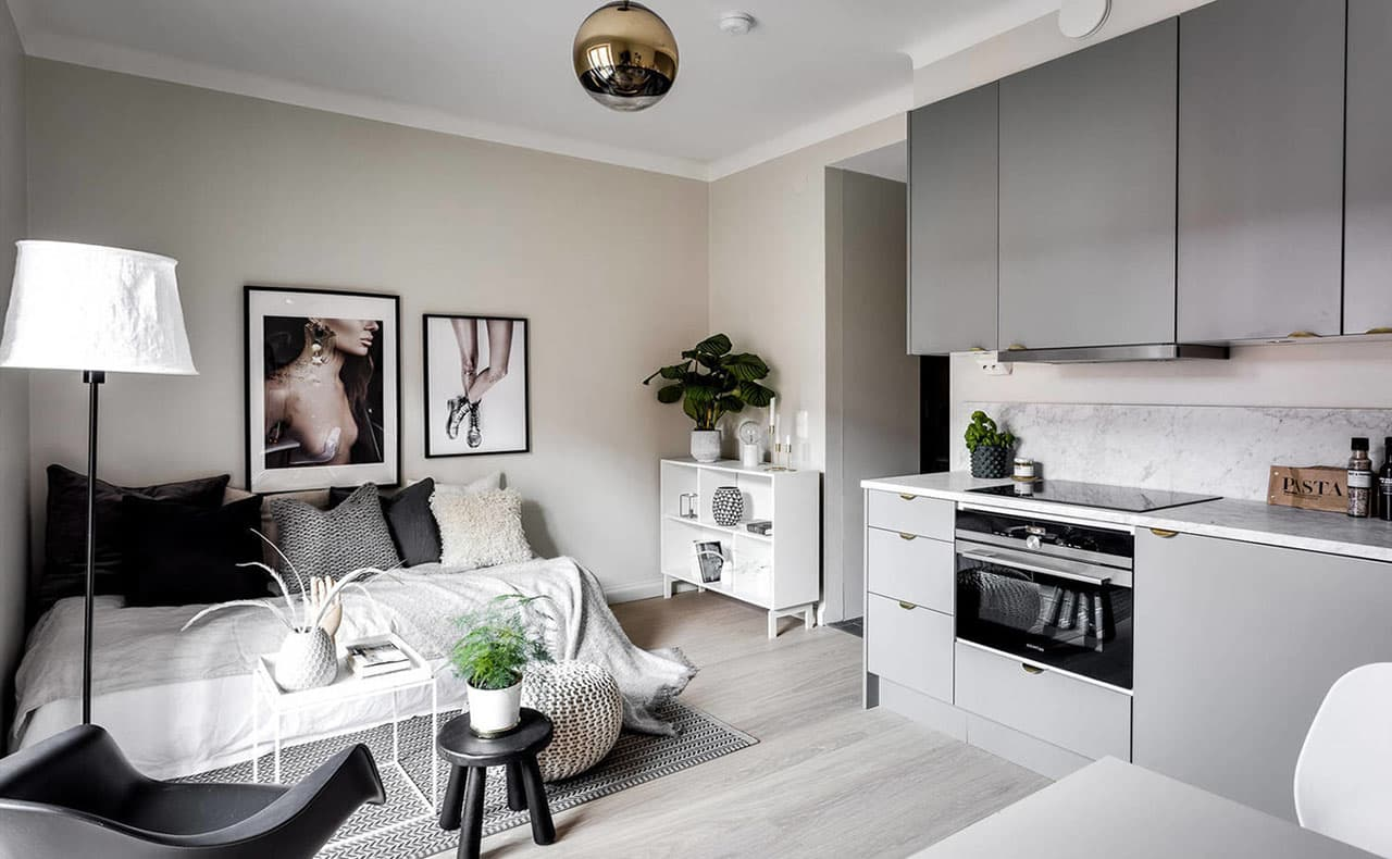 Дизайн квартире студии 25 кв.м