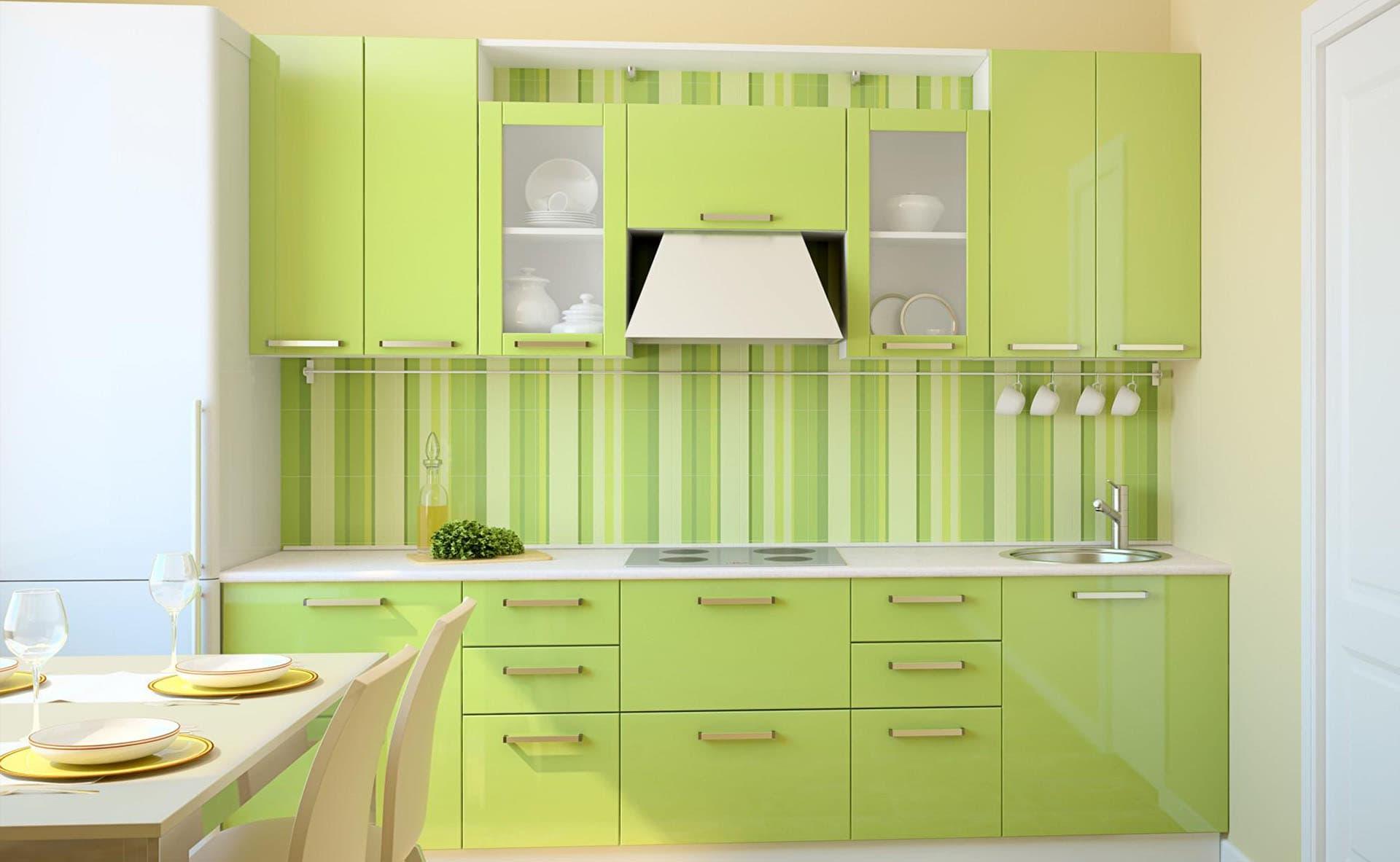 Картинки кухонная мебель зеленого цвета