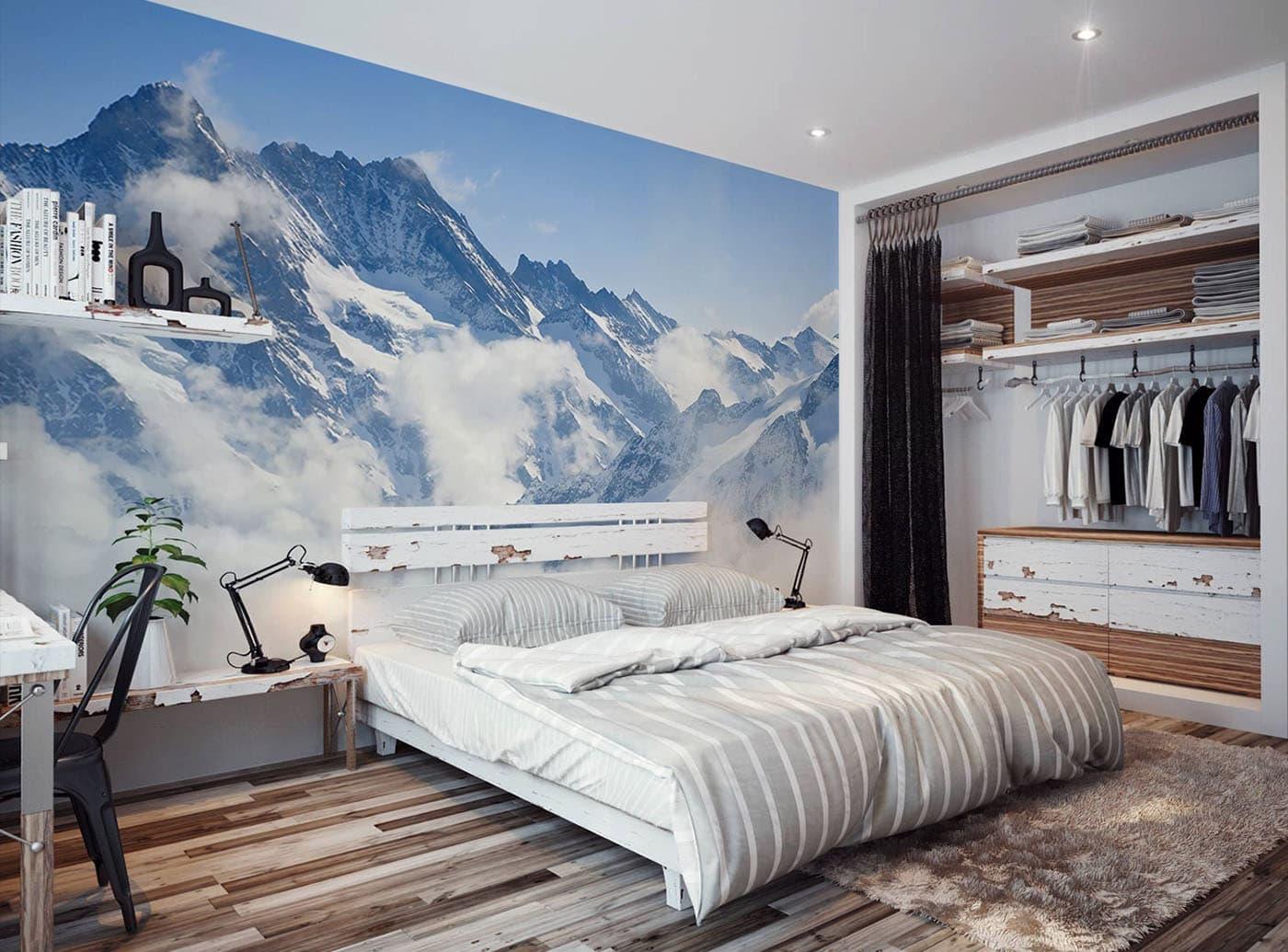 Как правильно подобрать фотообои для спальни