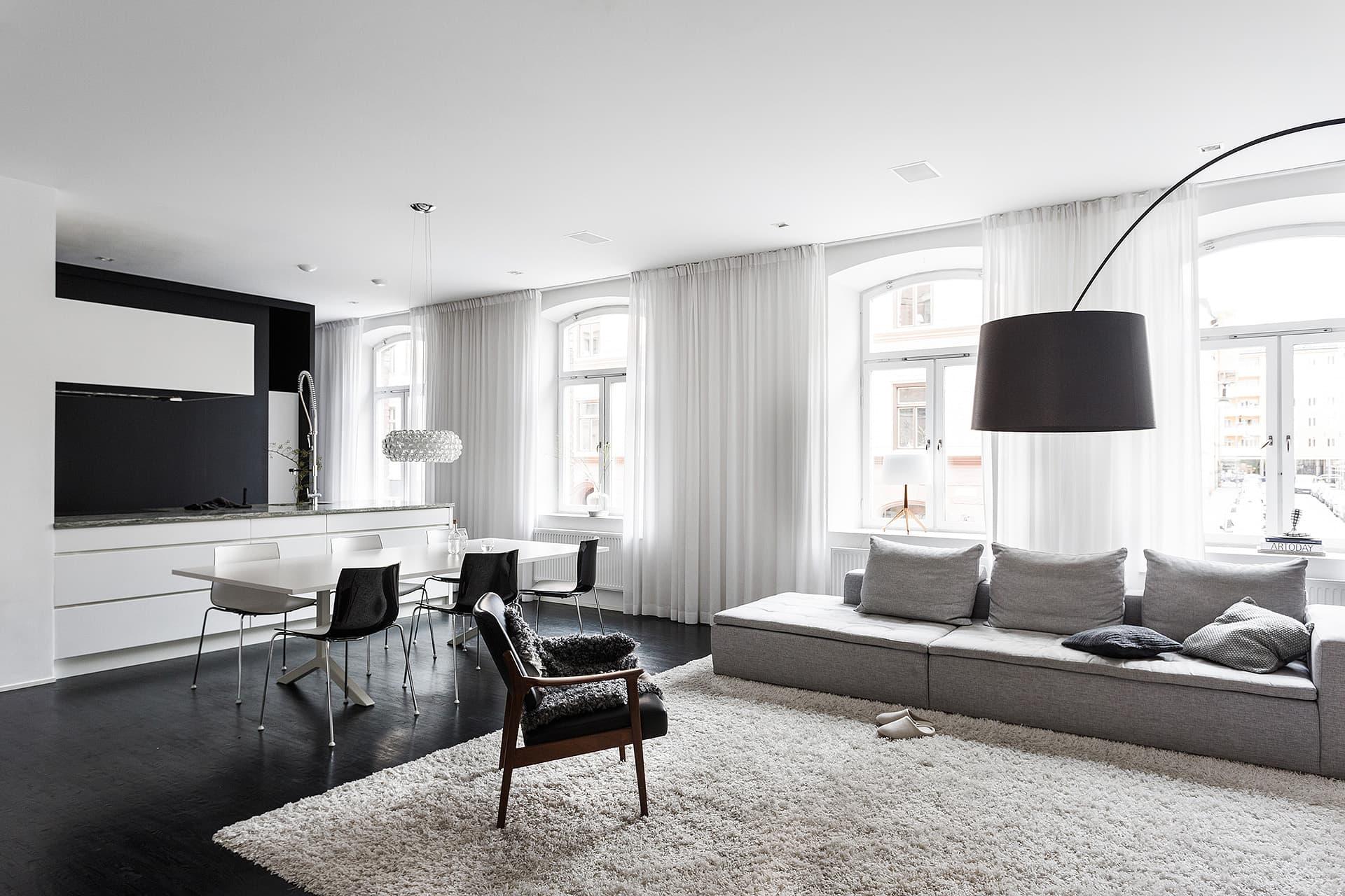 дизайн квартиры в черно белых тонах фото выполняется перфоратором, проход