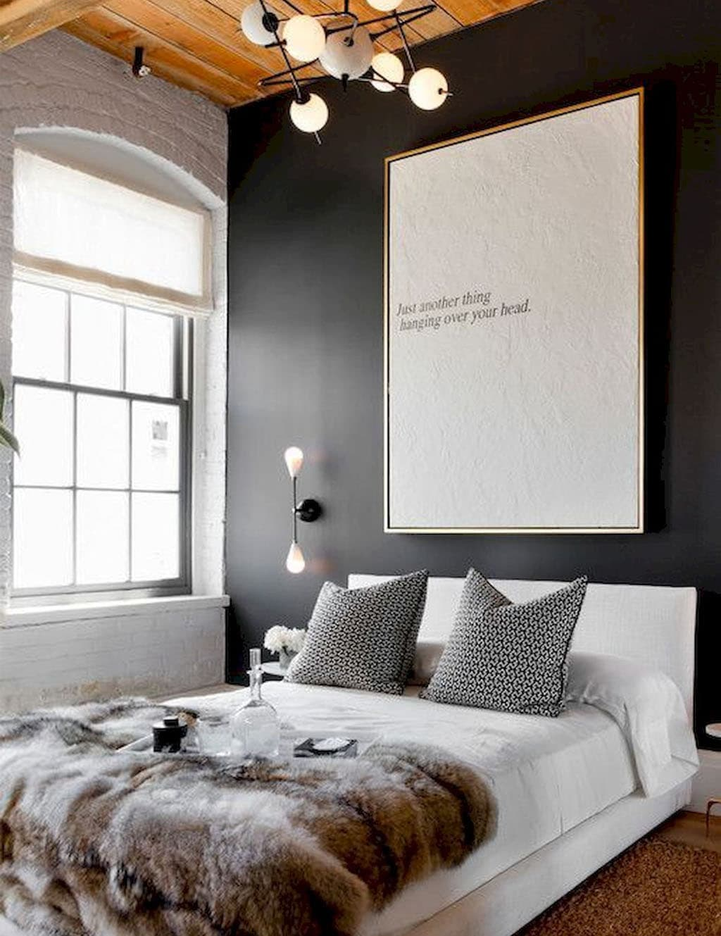постер для спальни в холодных тонах японских банях