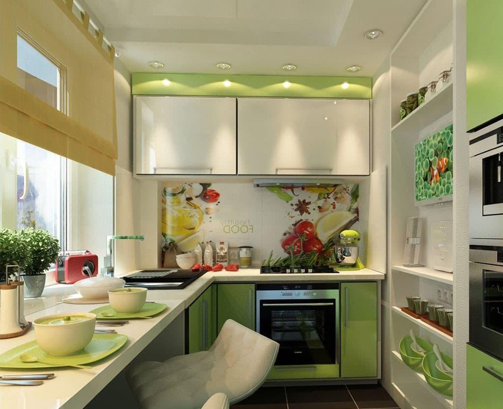 Картинки оформления небольших кухонь