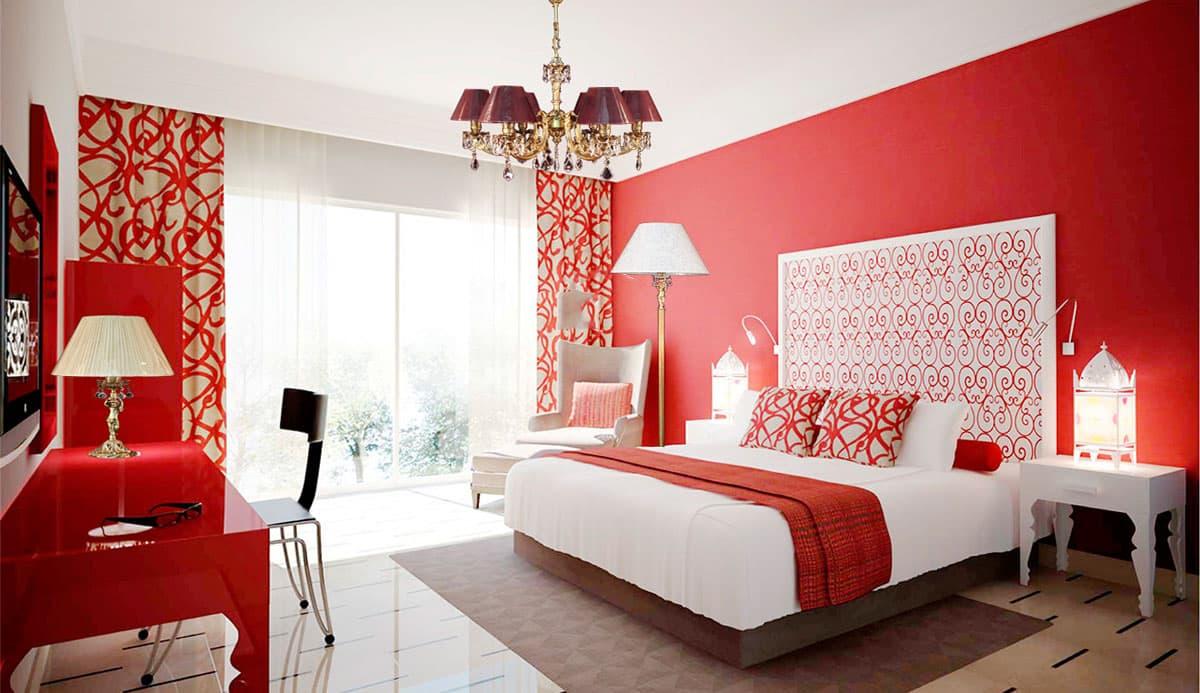 Красная спальня картинки