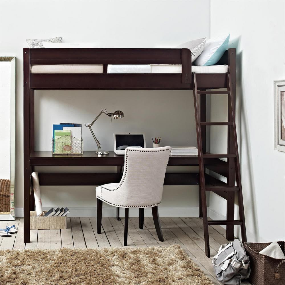 проведения кровать чердак и компьютерный столик фото чистая, пустая, без