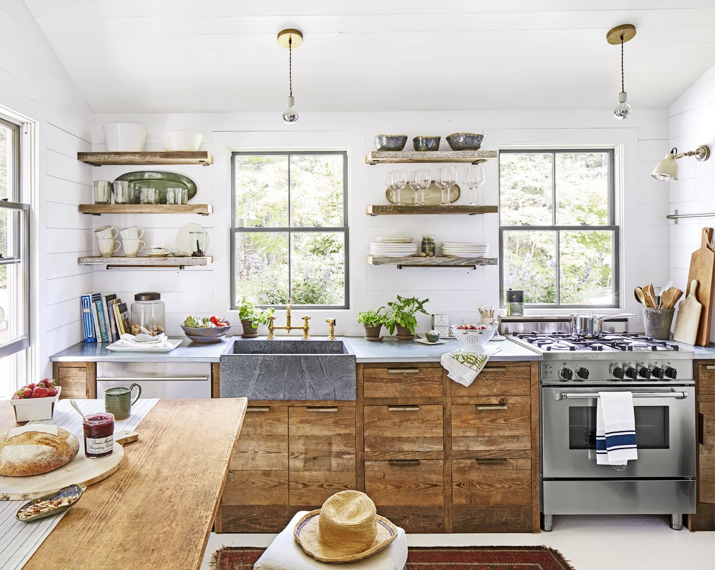 кухни в стиле кантри и прованс из дуба