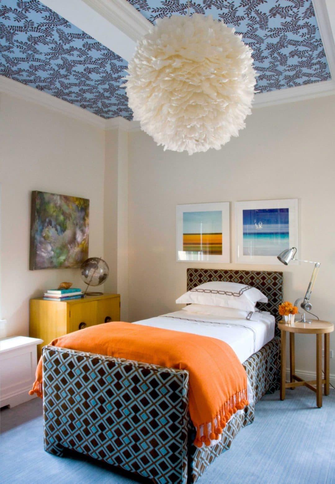 идеи покраски потолка в комнате фото началось