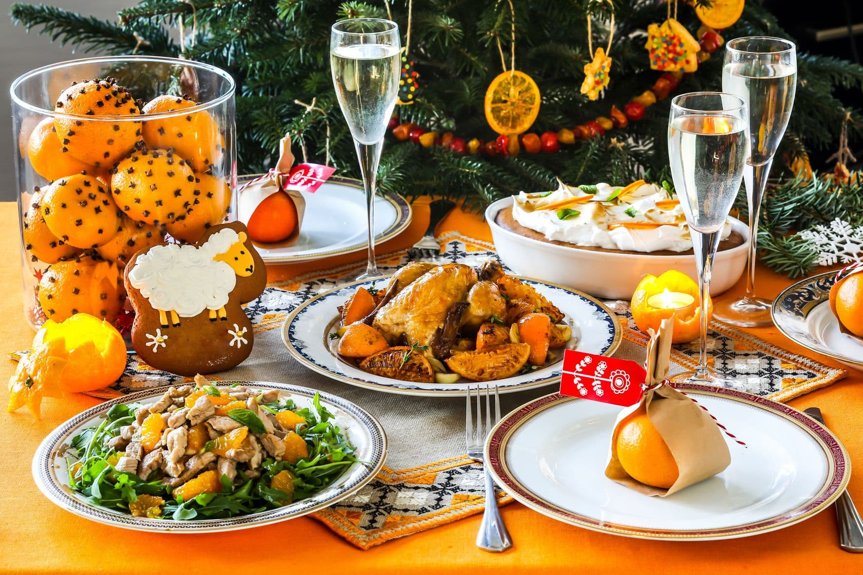 Картинки новогоднего стола