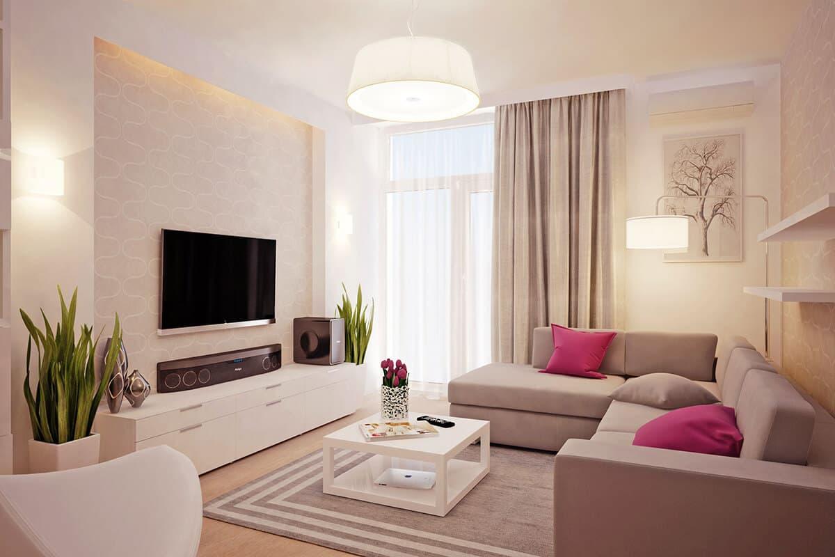 простой дизайн гостиной в картинках отличии резиновой
