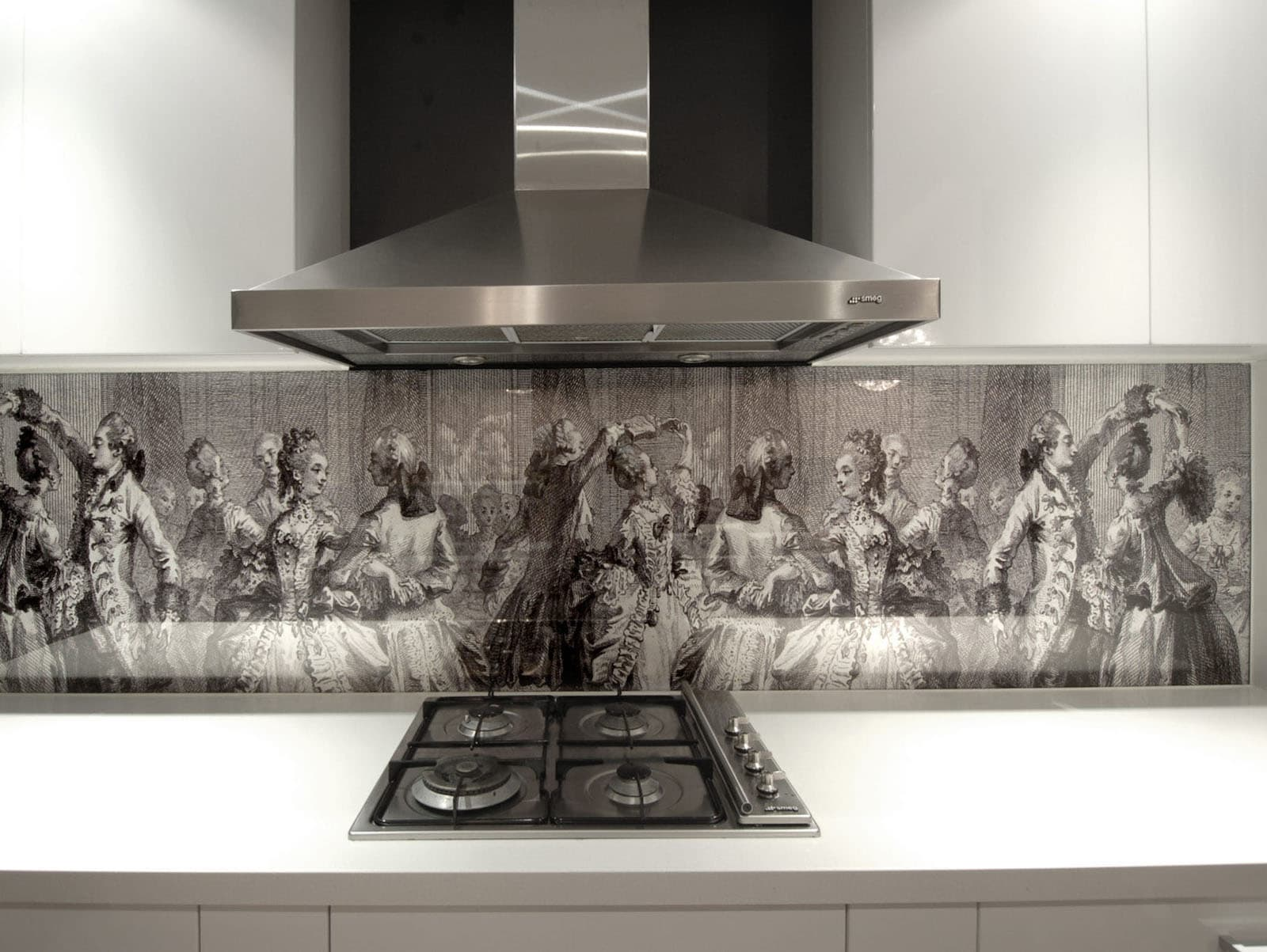 Кухонный фартук из личных фотографий глубину