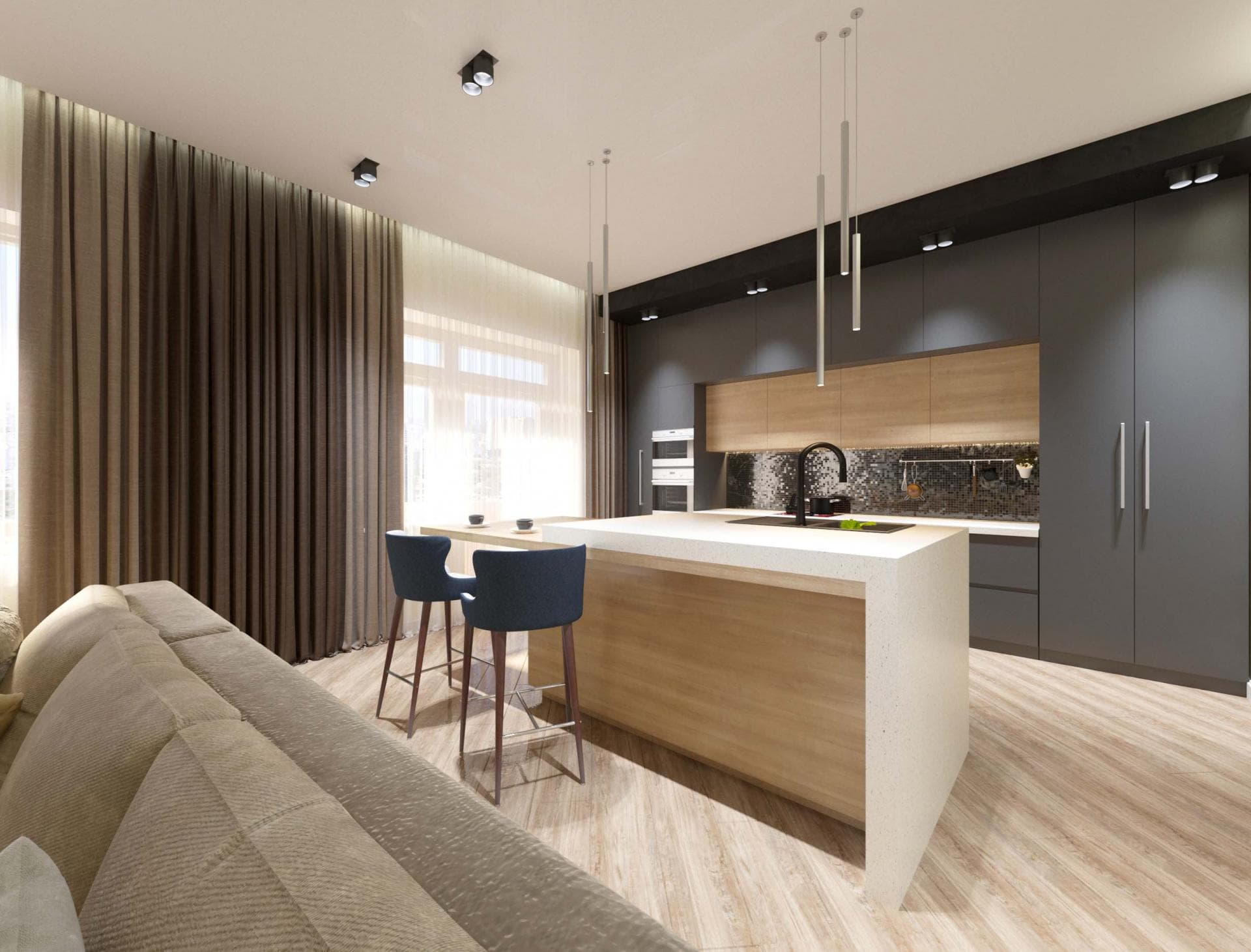 Двухкомнатная квартира в Краснодаре
