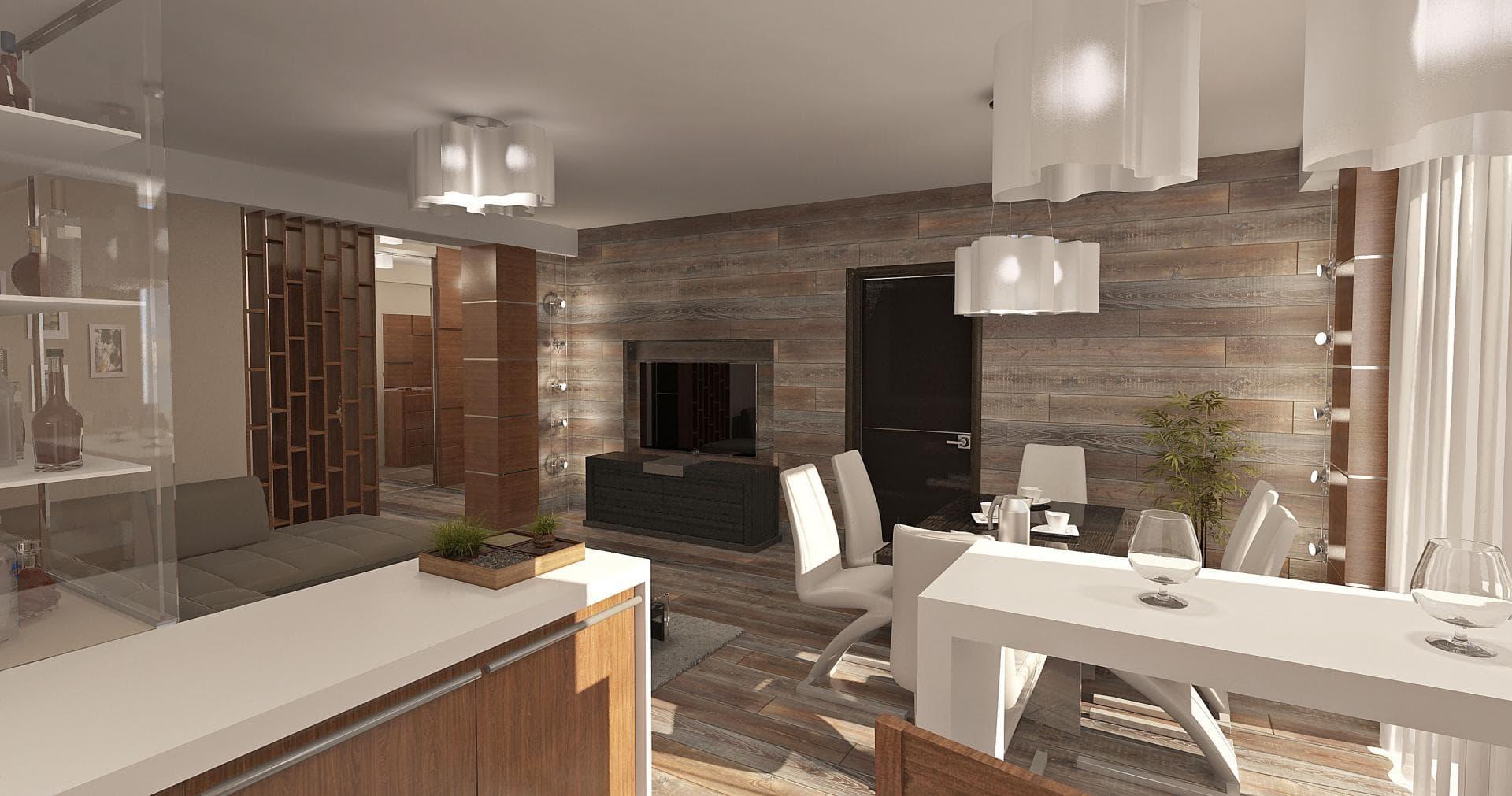 Дизайн-проект трехкомнатной квартиры 100 кв.м.