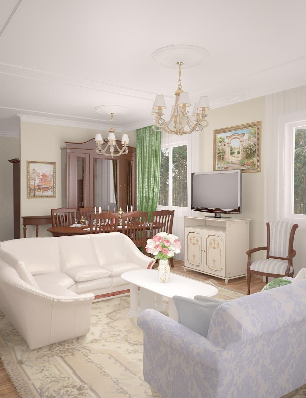 Дизайн-проект загородного дома площадью 170 кв.м