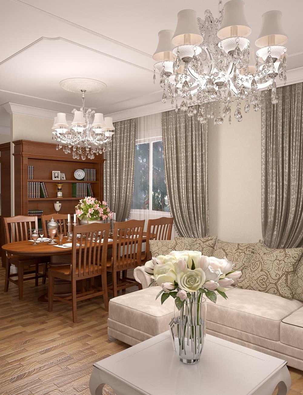 Дизайн-проект загородного дома 170 кв.м
