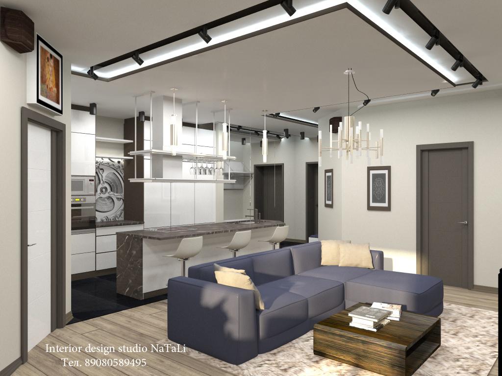 Дизайн интерьера квартиры в современном стиле (г. Челябинск)
