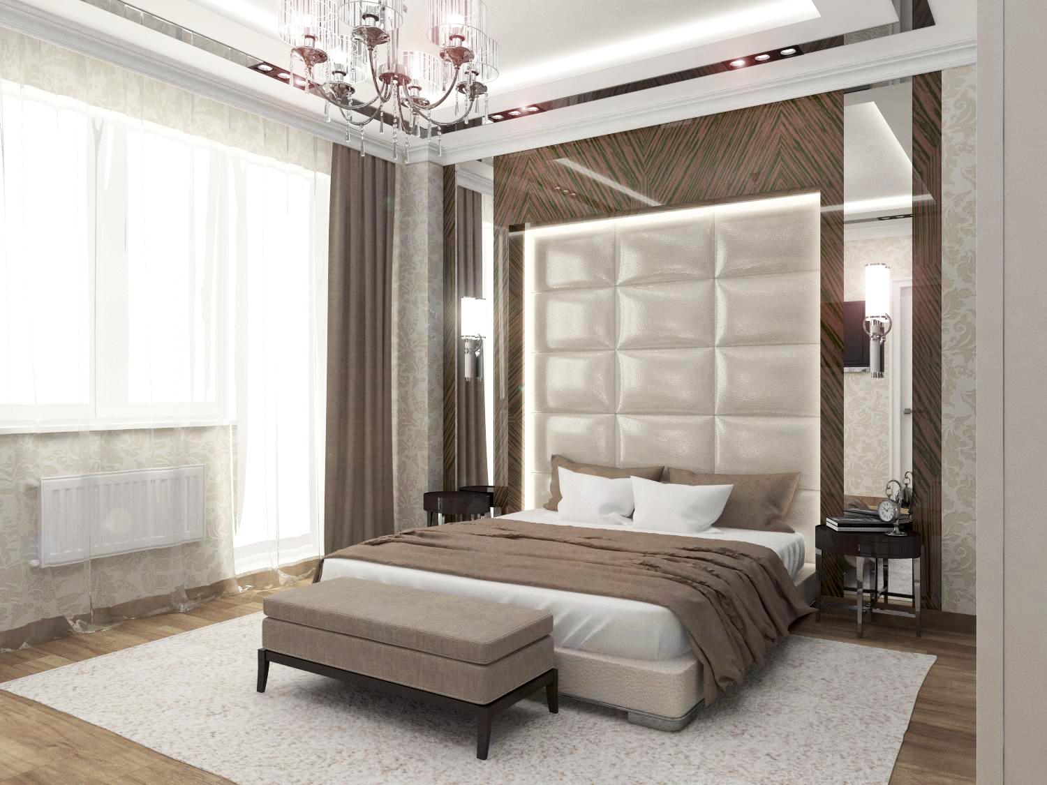 Дизайн интерьера спальной комнаты в классическом стиле
