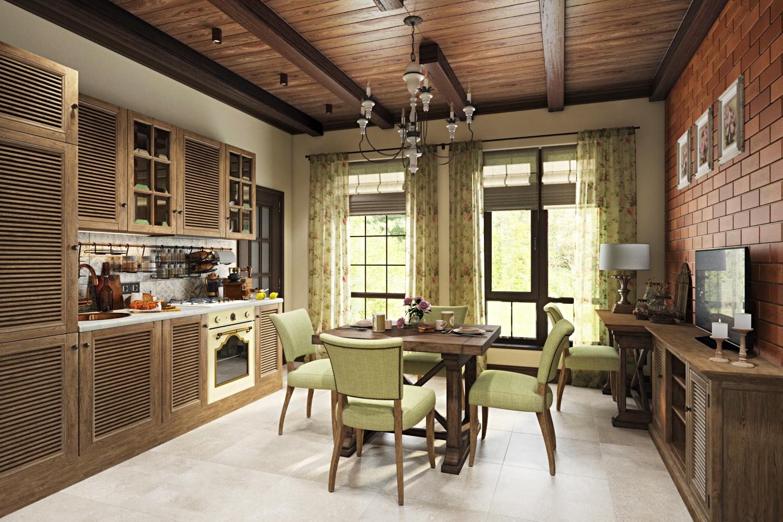 """Дизайн загородного дома """"Country Loft""""-2"""
