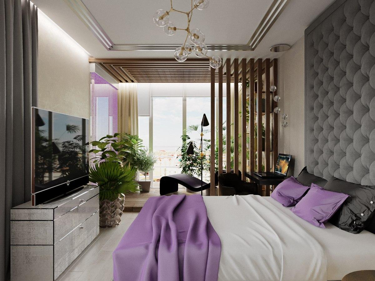 спальня совмещенная с балконом фото рос москве семье