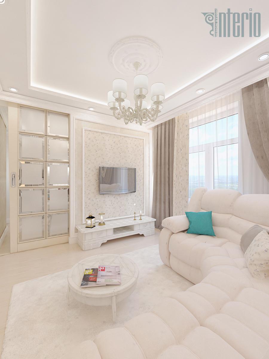 Светлая классика: интерьер двухкомнатной квартиры в Москве.