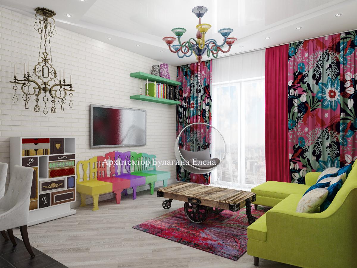 Интерьер спальни с стиле Поп-Арт
