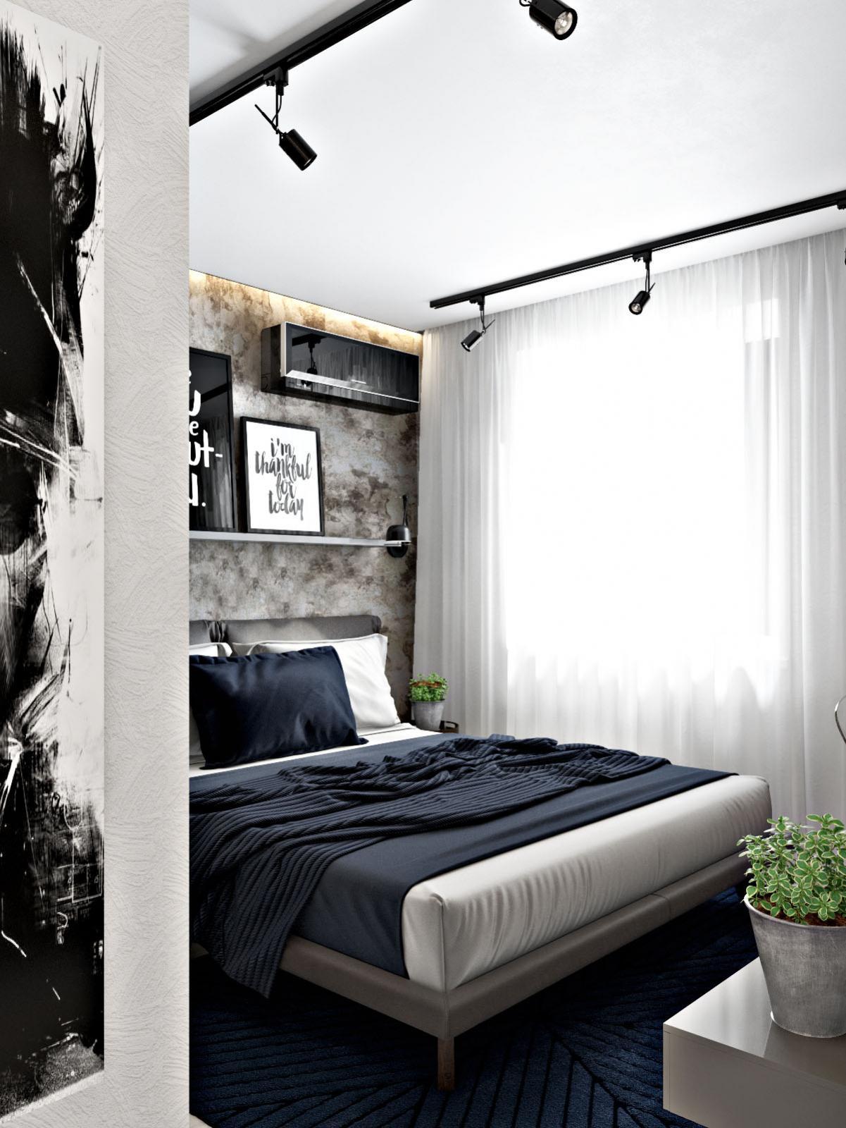 Интерьер двухкомнатной квартиры в ЖК Пляж
