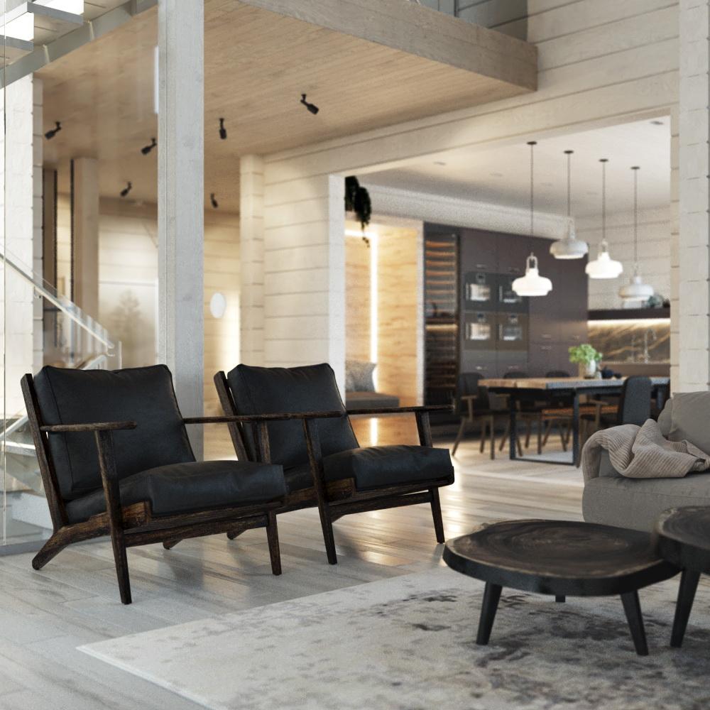 Проект дизайна интерьера загородного дома в Подмосковье от студии Suite n.7