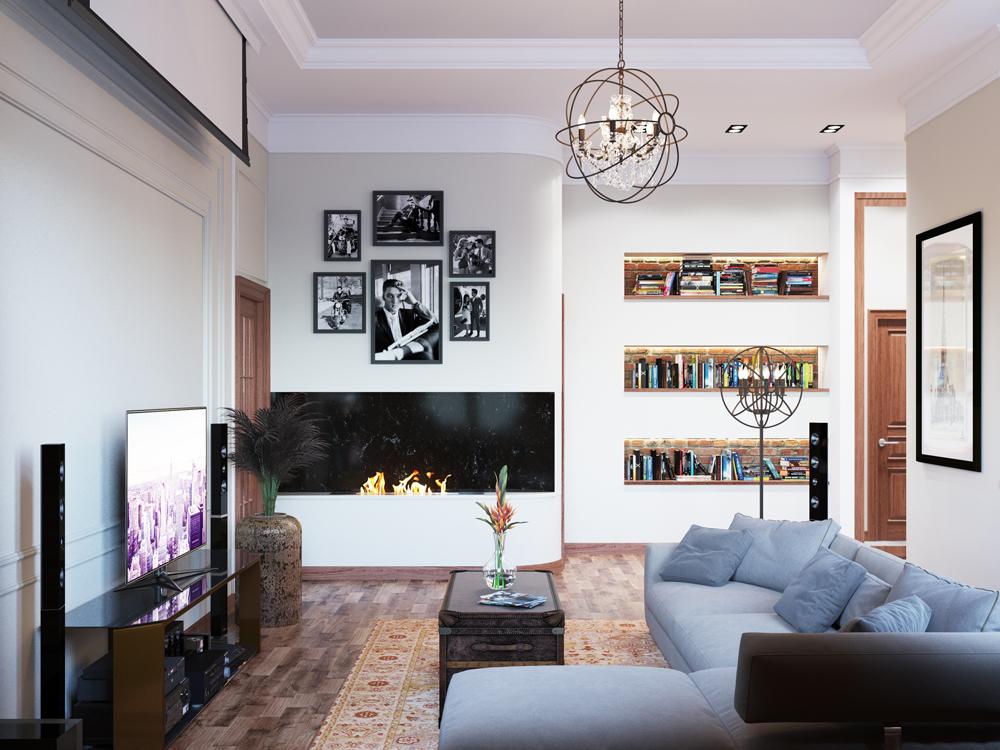 Четырехкомнатная квартира в стиле Лофт