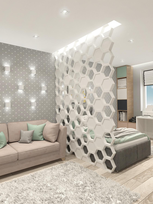 Дизайн интерьера детской в квартире в ЖК Ньютон