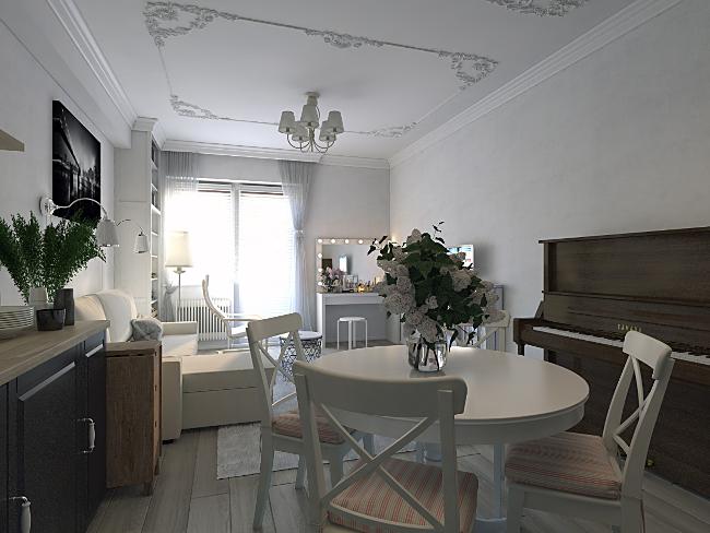 Дизайн-проект квартиры-студии в п. Краснообск