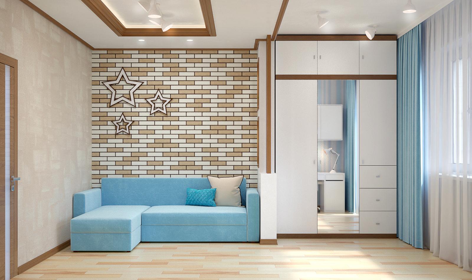 Дизайн проект детской комнаты (2 варианта)