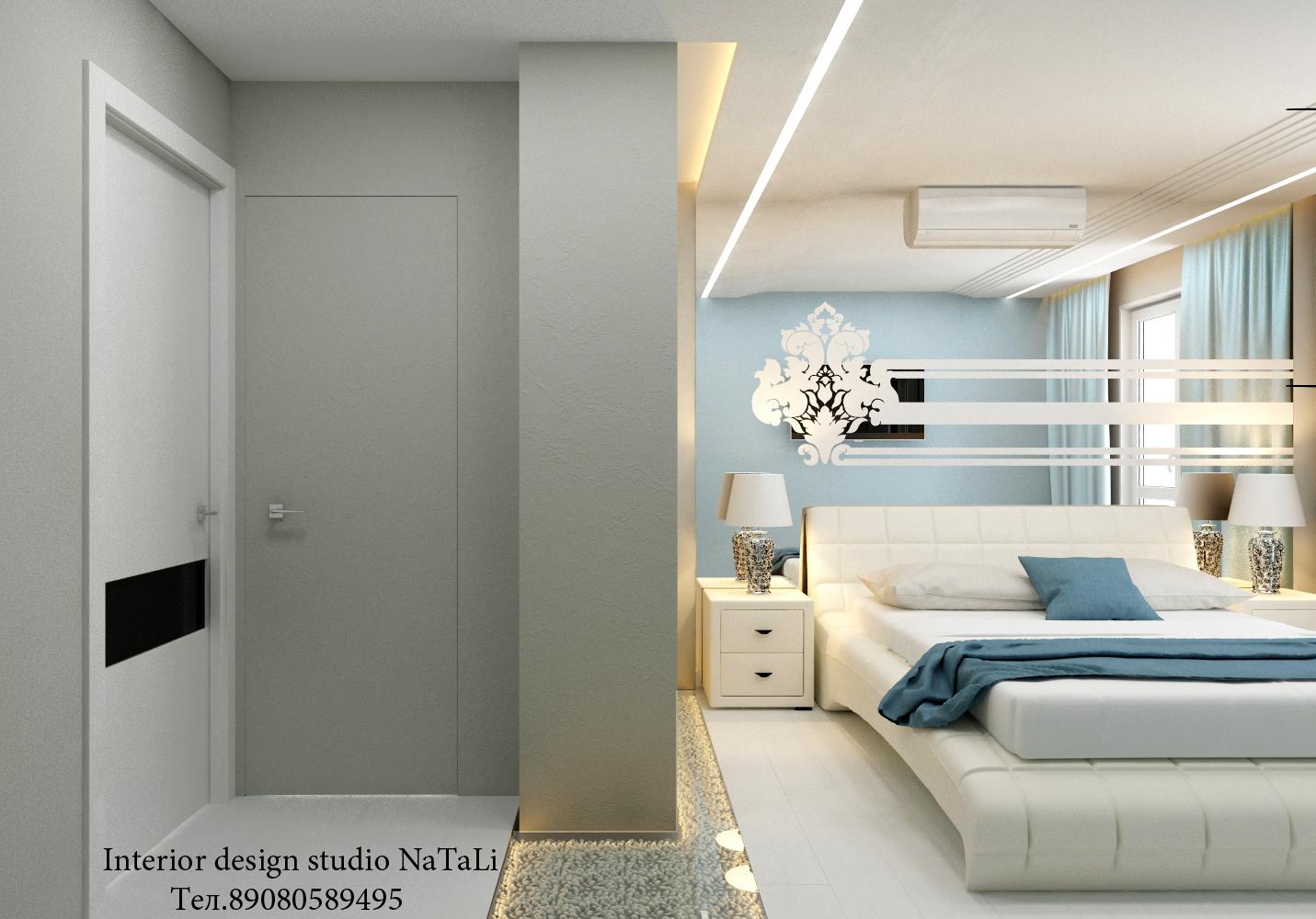 Дизайн интерьера спальни в ЖК Пара