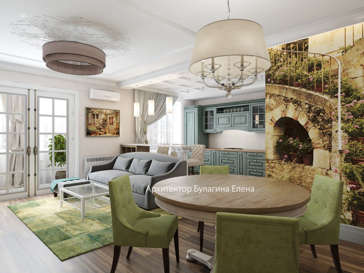 Двухуровневая квартира в стиле прованс