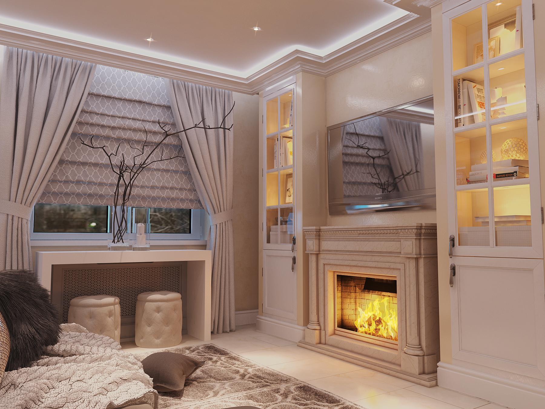 Интерьер квартиры: 75 кв.м в классическом стиле