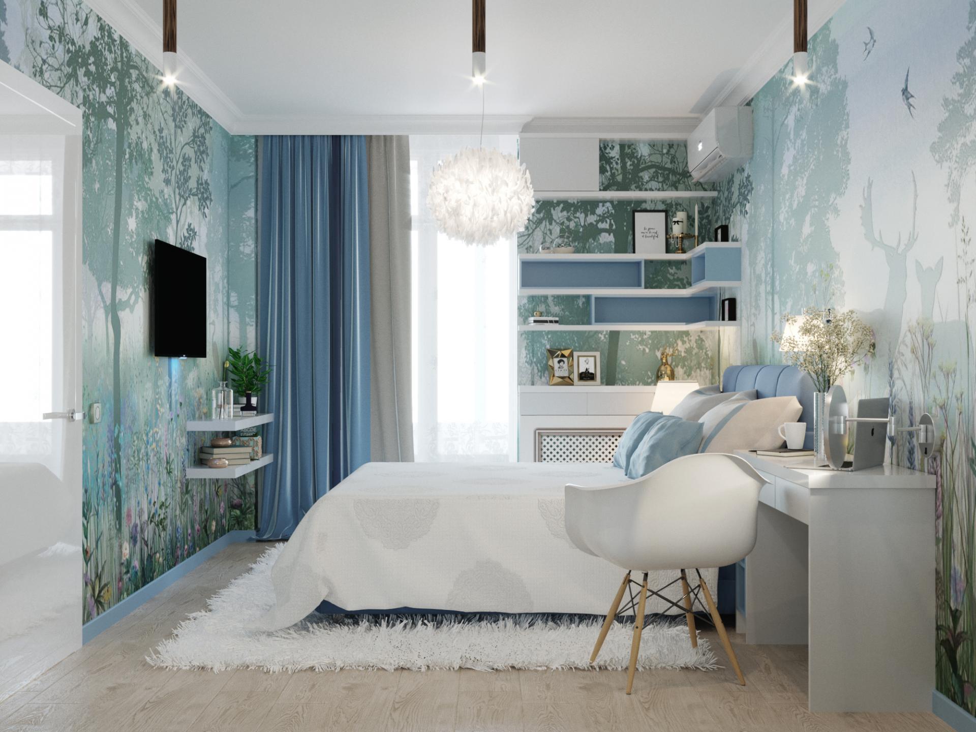 Дизайн спальни в ЖК на Героев Разведчиков