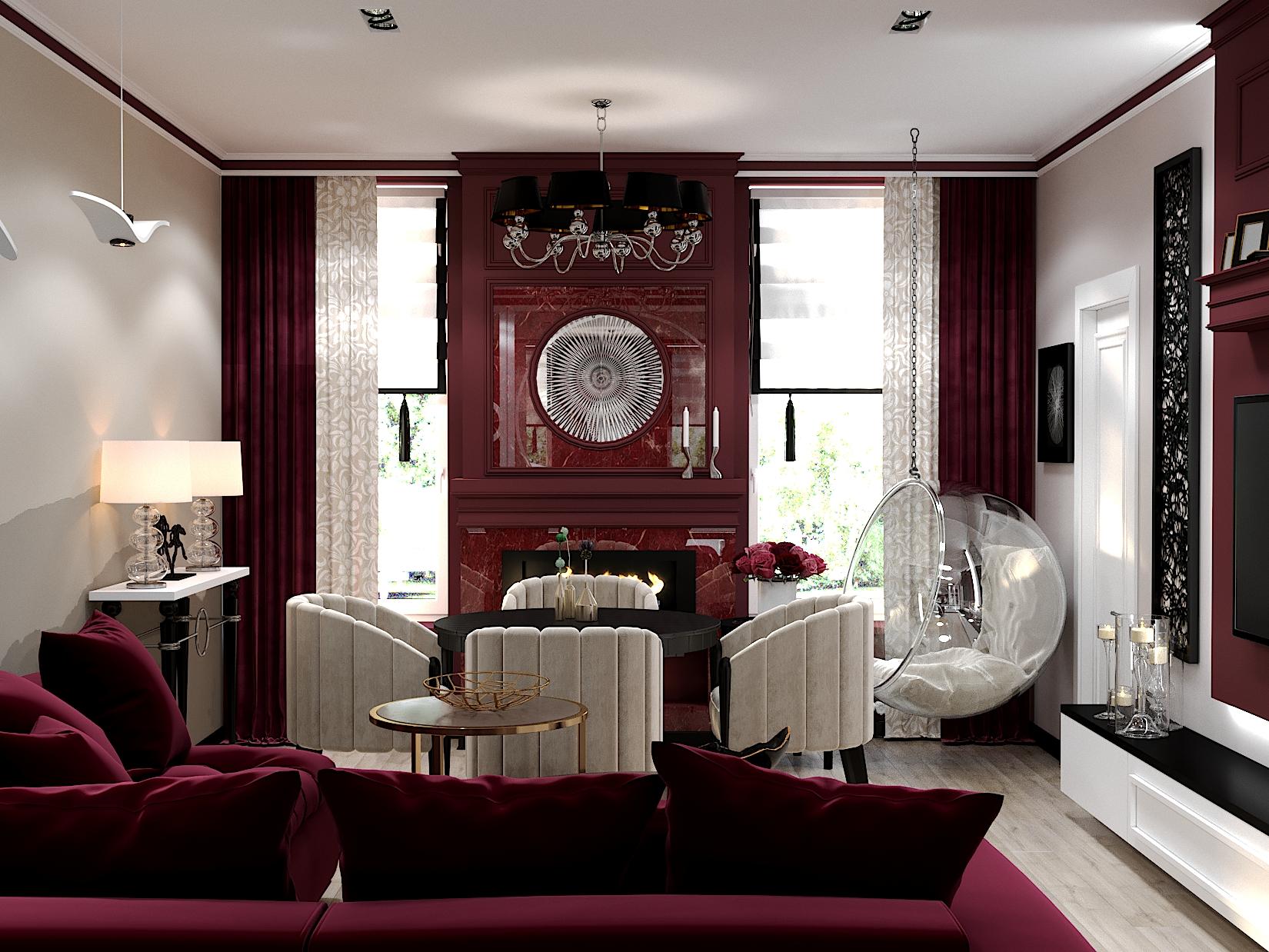 Дизайн-проект гостиной 20 кв.м