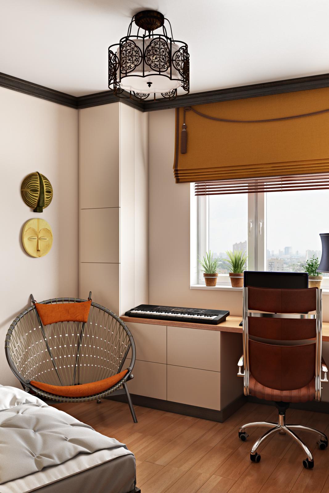Кабинет в современном стиле - 12 кв.м.