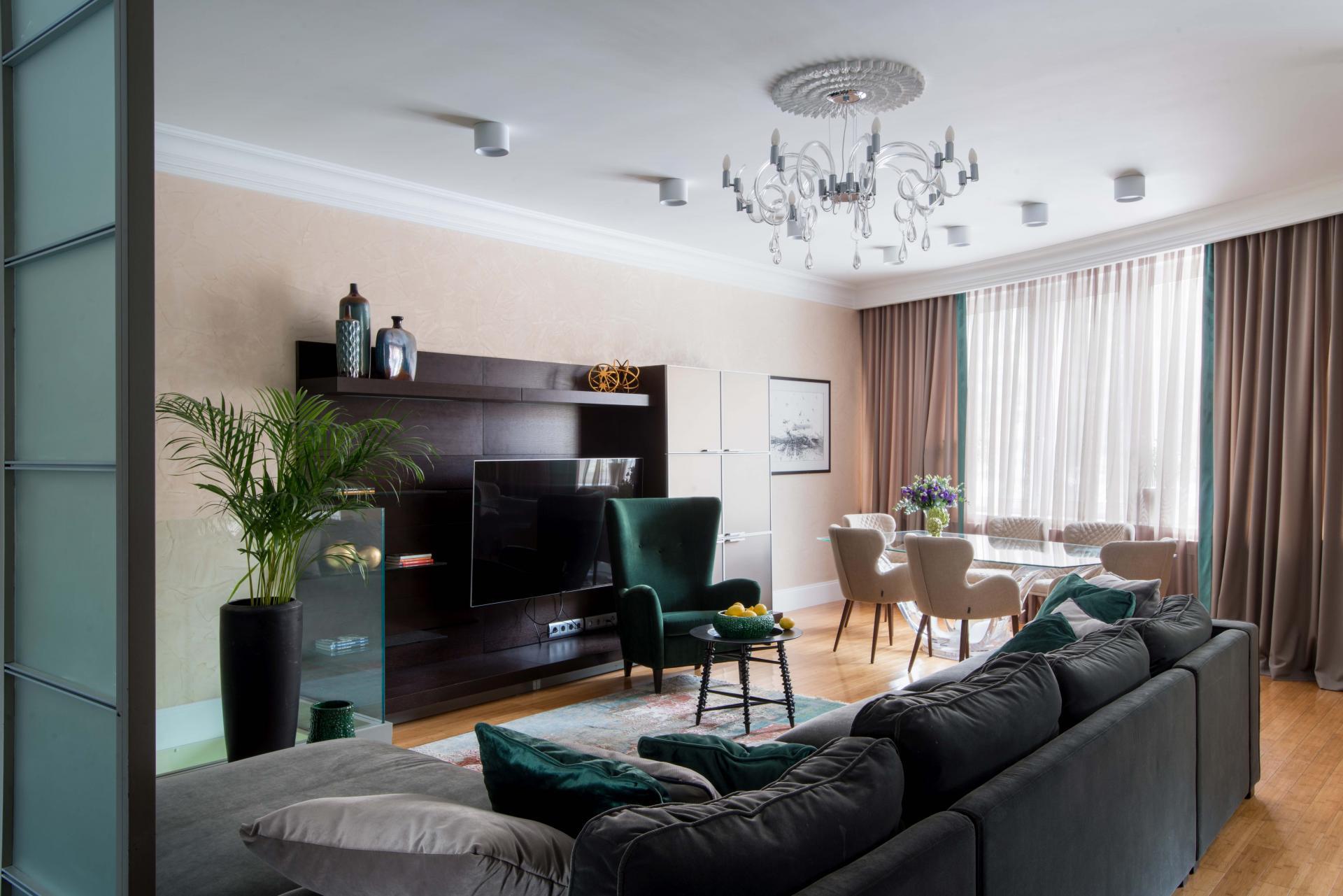 Дизайн двухуровневой квартиры площадью 150 кв.м. в Крылатском в ЖК Сосновка для семьи с двумя детьми