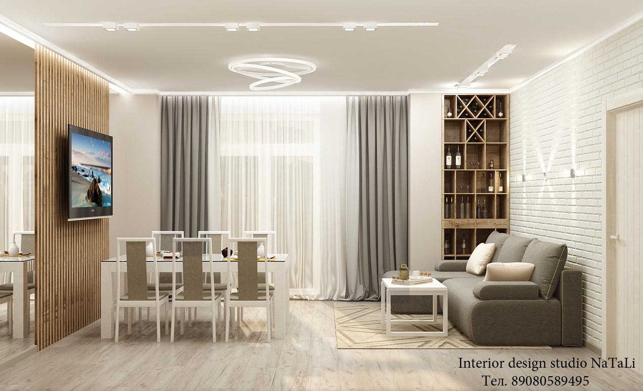 Дизайн интерьера квартиры в ЖК Ярославский
