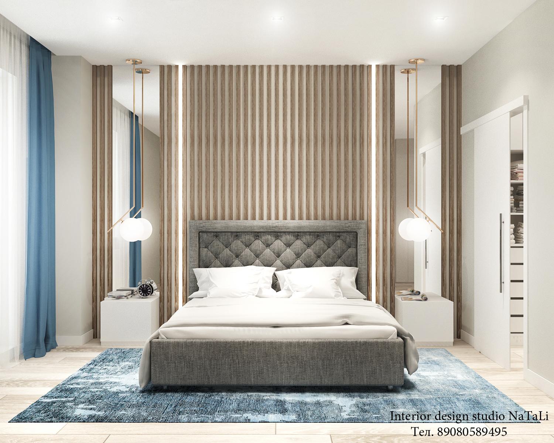Дизайн интерьера спальной комнаты в современном стиле