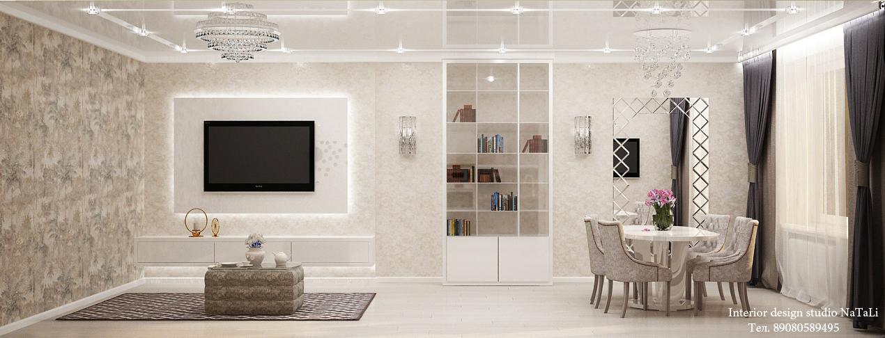 Дизайн гостиной в ЖК Манхеттен