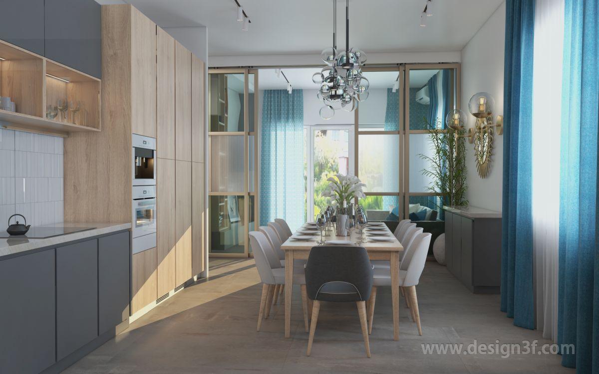 Дизайн интерьера дома 120 м2 в современной стилистике