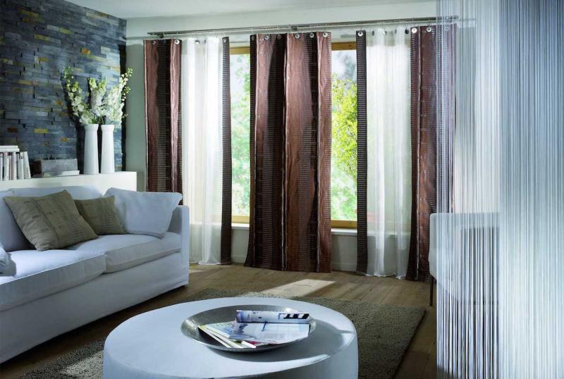 Дизайн современных штор для спальни фото