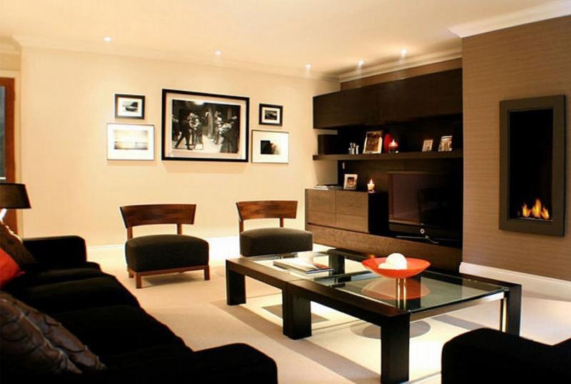 Простой дизайн гостиной