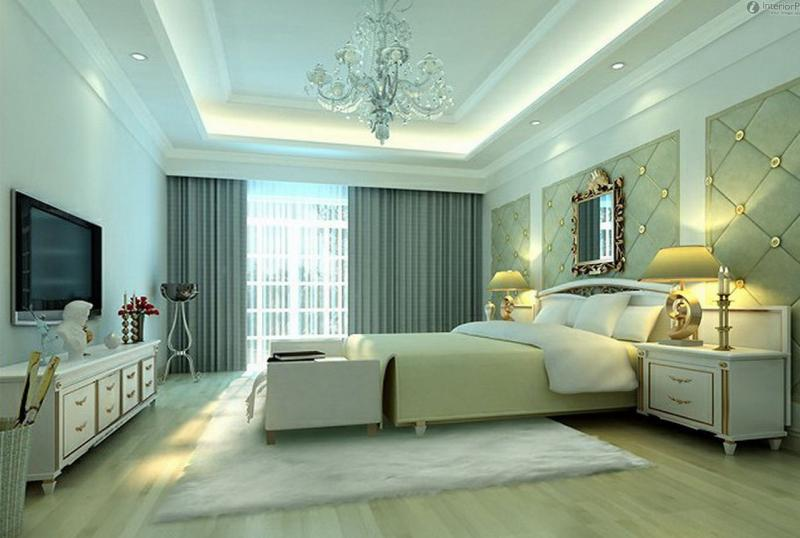 Потолки в спальне своими руками
