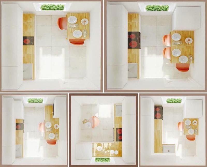 5 планировок для маленькой кухни