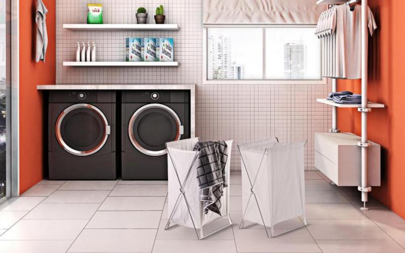 Дизайн ванной со стиральной машинкой