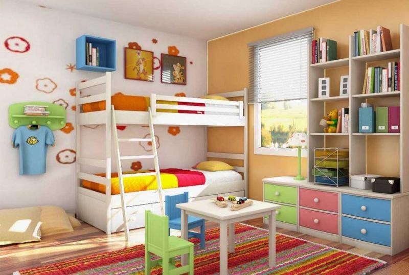 Дизайн детской для разнополых детей