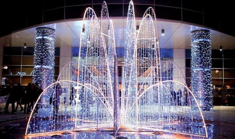 Светодиодные водопады: преимущества и особенности