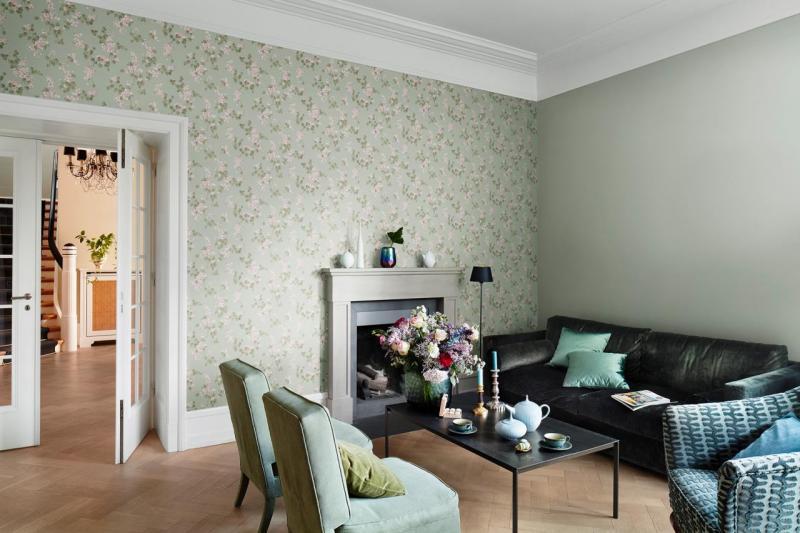 Дизайн обоев для гостиной или зала.