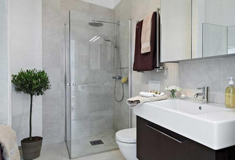 Стильная ванная комната в типовой квартире