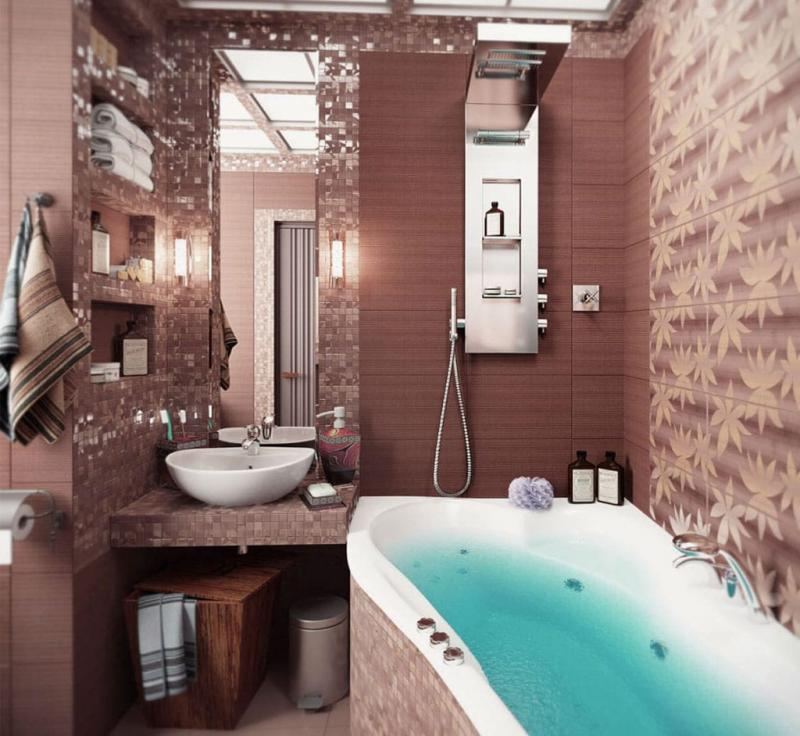 Красивая ванная комната в типовом доме